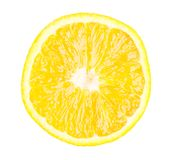 Slice of orange. Isolated. On white background royalty free stock image