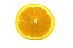 Slice of orange. isolated on white. Royalty Free Stock Image