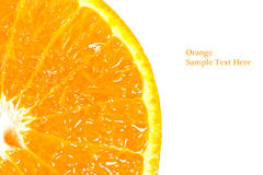 Slice of orange isolated Stock Photography