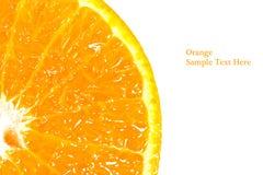 Slice of orange isolated Stock Photography