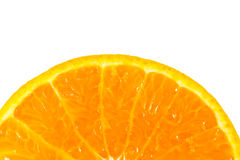 Slice of orange isolated Royalty Free Stock Image