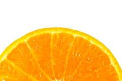 Slice of orange isolated Royalty Free Stock Image