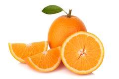 Slice orange isolated on white background Royalty Free Stock Photos