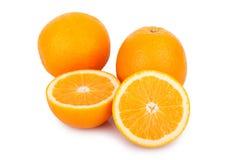 Slice orange isolated on white background Stock Photo