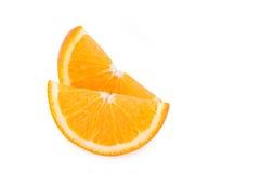 Slice orange isolated on white background Royalty Free Stock Image