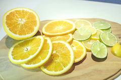Slice orange, lime and lemon Royalty Free Stock Photo