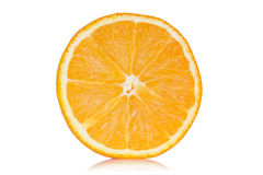 Slice of orange with reflection Stock Image