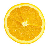 Slice of orange on white. Royalty Free Stock Image