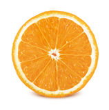 Slice of orange on white background stock image