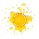 Slice oranges in orange juice Stock Image