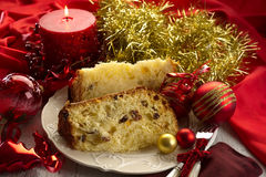 Slice Panettone Stock Photography