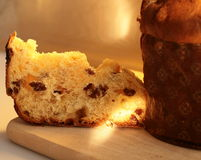 A slice of Panettone stock images