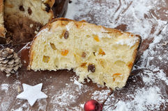 Slice of panettone Stock Photography