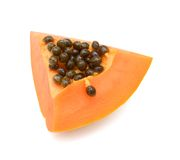 A slice papaya fruit Royalty Free Stock Photos