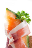 Slice parma ham and melon Royalty Free Stock Photography
