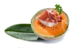 Slice parma ham and melon Royalty Free Stock Photo