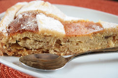 Slice of pastiera Royalty Free Stock Images
