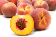 Slice peach Royalty Free Stock Photo