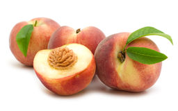 Slice peach Royalty Free Stock Photo
