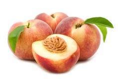 Slice peach Stock Photos