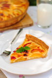 A Slice of Peach Custard Pie Royalty Free Stock Image