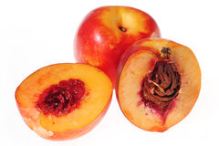 Slice peach detail Stock Images