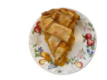 Slice of peach pie. On white background Royalty Free Stock Photo