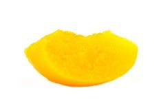 Slice of peach Stock Photos