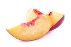 Slice of peach Royalty Free Stock Image