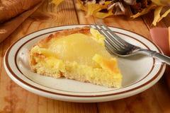 Slice of pear tarte Stock Photos