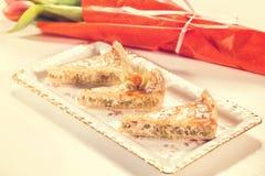 Slice of peas cake Royalty Free Stock Photos