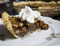 Slice of Pecan Pie Stock Photography