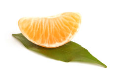 Slice of peeled tangerine Stock Photo