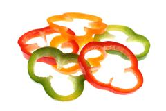 Slice of pepper Stock Images