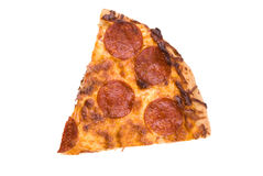 Slice of pepperoni pizza Stock Photos