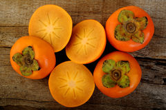 Slice persimmon Royalty Free Stock Photo