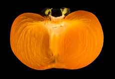 Slice of persimmon. Stock Images