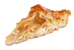 Slice of pie with curd Stock Photo