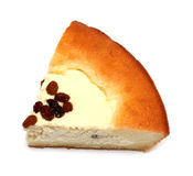 Slice of pie with curds filling Royalty Free Stock Photos