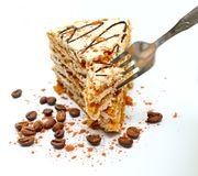 Slice of a pie and plug Royalty Free Stock Photography