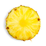 Slice of pineapple. On white Stock Images