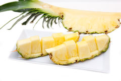 Slice of pineapple Royalty Free Stock Photo
