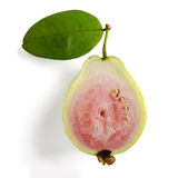 Slice pink guava Stock Photos