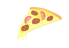 A slice of pizza Royalty Free Stock Photography