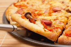 A slice of pizza Royalty Free Stock Photos