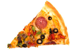 Slice of pizza Stock Image