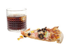 Slice of pizza and cola Royalty Free Stock Photo