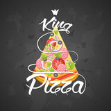Slice of pizza king. Stock Photography