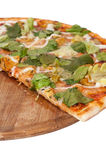 Slice of pizza with letuce Stock Image