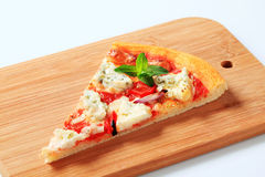 Slice of pizza. Quattro formaggi royalty free stock photos